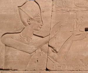 Ramses III. im Karnak-Tempel