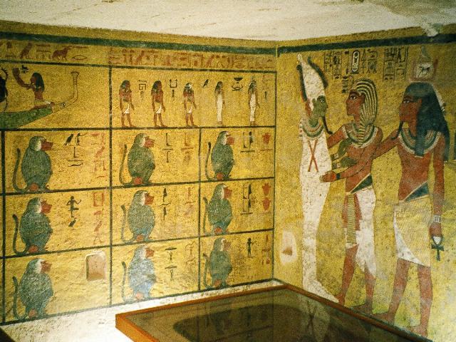 Wandbemalung im Grab von Tutanchamun