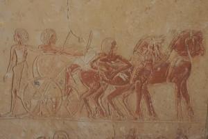 Streitwagen im Grab des Haremhab, Sakkara