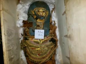 Die sichergestellte Mumie