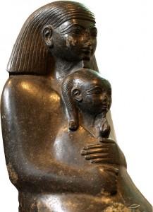 Statue von Senenmut mit Neferure