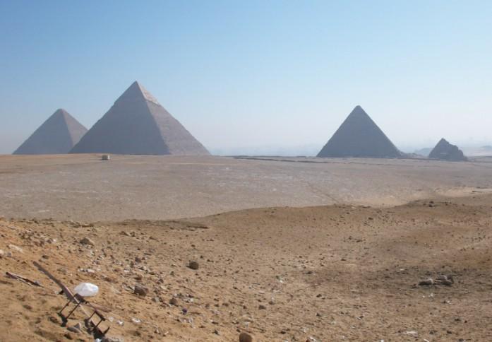 Gizeh-Plateau mit Pyramiden