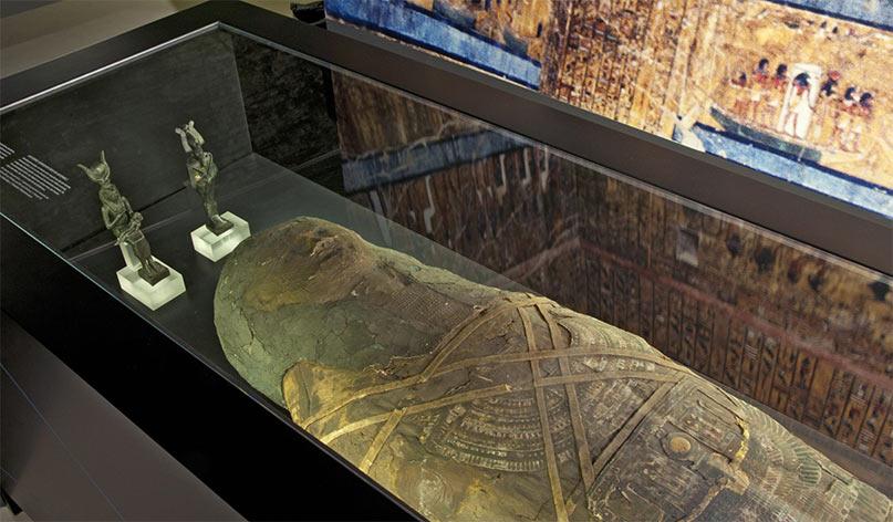 Die Mumie aus der Unterwelten-Ausstellung stammt aus der Ptolemäischen Epoche