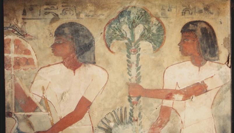 Ausschnitt des Fragments aus dem Grab des Sobekhotep, © Antikensammlungen Ursula und Karl-Heinz Preuß