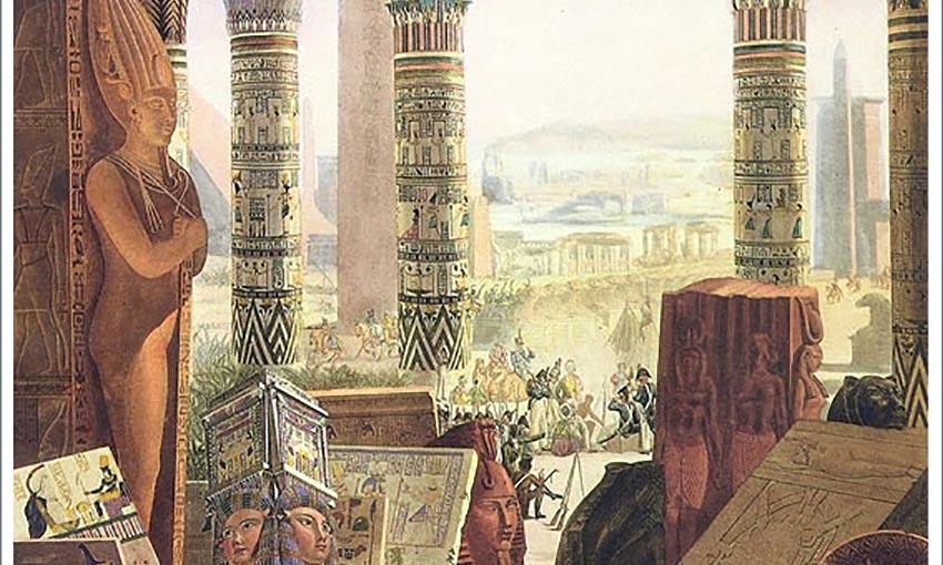 """Der Ausschnitt eines Bildes aus der """"Description de l´Egypte"""" Foto: Wikimedia Commons"""