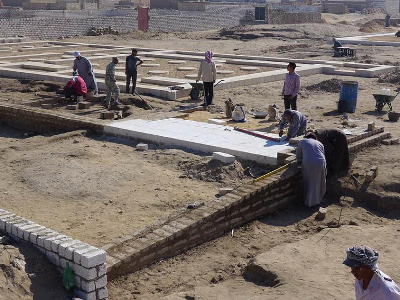 Arbeiten am Großen Aton-Tempel © Amarna Project