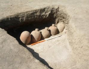 Bierkrüge in einem Grab in Dangeil, Sudan