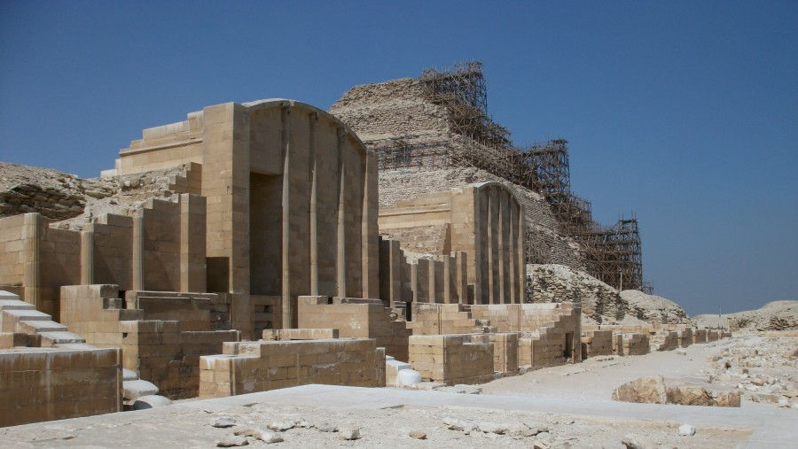 Foto Heb-Sed-Hof der Stufenpyramide