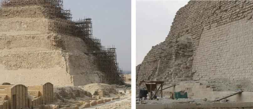 Foto: Restauraionsarbeiten an der Stufenpyramide