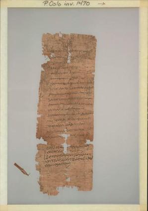 Ein Mann namens Ophela beantragt für seinen minderjährigen Sohn Pakhois die Registrierung als Lehrling in den Steuerlisten der Webereien. Das Dokument aus Oxyrhynchos ist auf den 11. Juni 70 n. Chr. datiert Foto: Papyrus Collection, University of Oslo Library