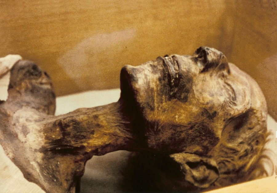 Foto der Mumie Ramses II.