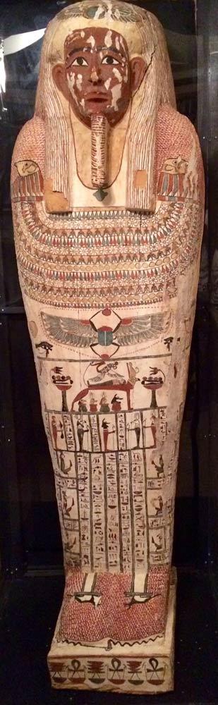 Der Sarkophag von Denit-ast. Anhand der C14-Methode konnte er in die Zeit der persischen Herrschaft datiert werden. Bild mit freundlicher Genehmigung von Mike Sigler