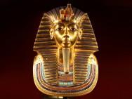 Foto der Totenmaske des Tutanchamun (Replik)