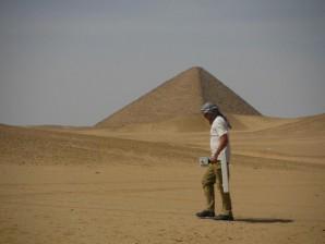 Magnetometrische Messungen im Wadi zur Knickpyramide