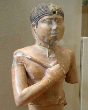 Foto der Büste von Pharao Raneferef