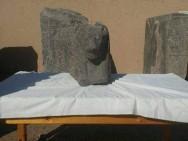 Der Kopf von einer der gefundenen Sachmet-StatuenFoto: MSA