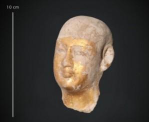 Foto eines Statuenkopfs von Imhotep