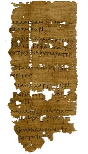 Foto von Oxyrhynchos Papyrus 5245
