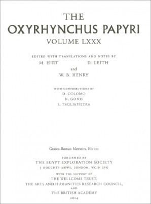 Bild The Oxyrhynchus Papyri, Band 80