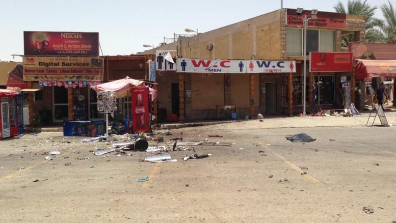 Der Bereich vor dem Karnak-Tempel nach dem vereitelten Anschlag: Foto: Mena | LuxorTimes