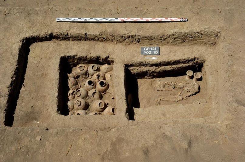 Ein gut erhaltenes Grab Bild: MSA