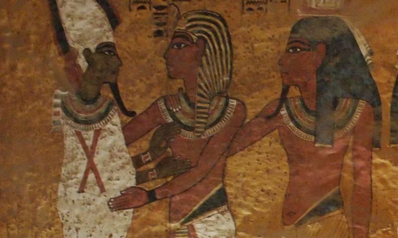 Zeigt das Bild Nofretete mit ihrem Ka und nicht Tutanchamun? Faksimile von Tuts Grab
