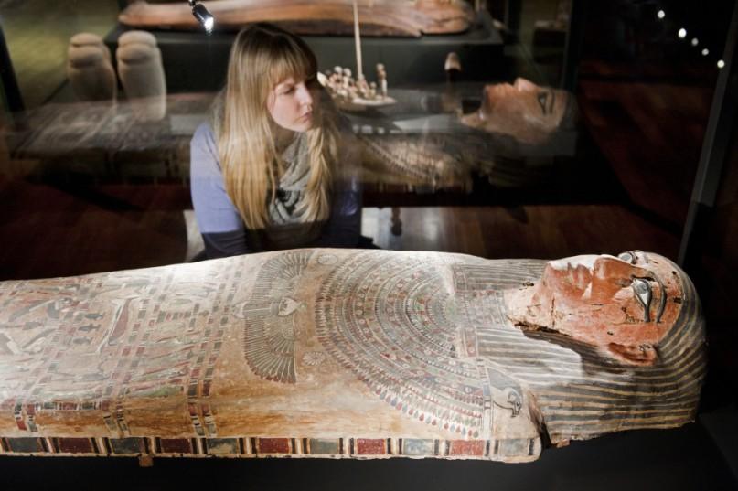 """Blick in die Ausstellung """"Ägypten – Land der Unsterblichkeit"""".  © rem, Foto: Carolin Breckle"""