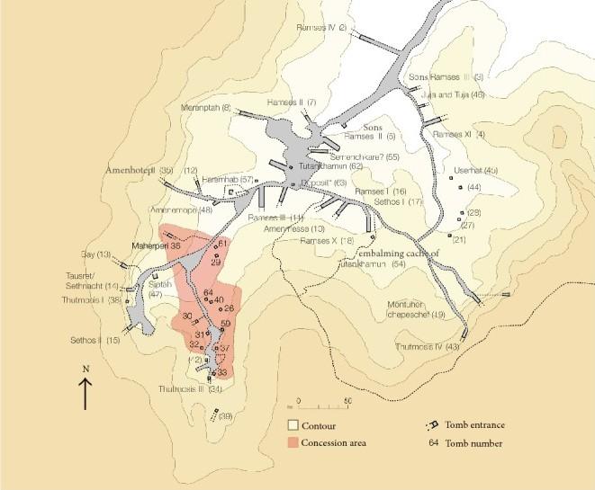 Konzessionsgebiet des »The University of Basel Kings Valley Project« im Tal der Könige. © Univ. Basel, Egyptology, UBKVP