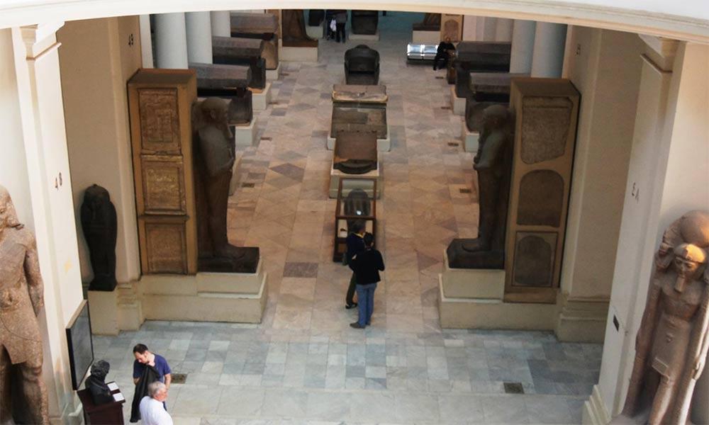 Foto aus dem Innenbereich des Ägyptischen Museums Kairo Foto: Friedrich Graf