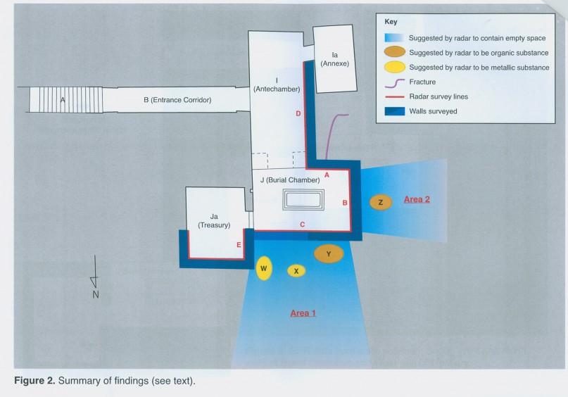 Das Antikenministerium hat die Grafik zu den Scan-Ergebnissen veröffentlicht. Grafik: MSA