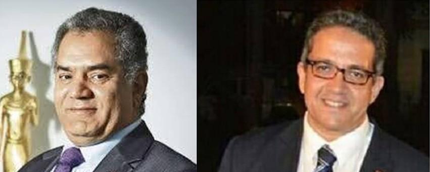 Der alte und der neue Antikenminister. Mamdouh el-Damaty links und Khaled El Anany rechts. Fotos: MSA