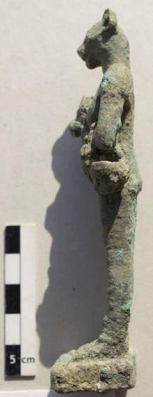 Bronzene Statuette der Göttin Bastet. Foto: MSA