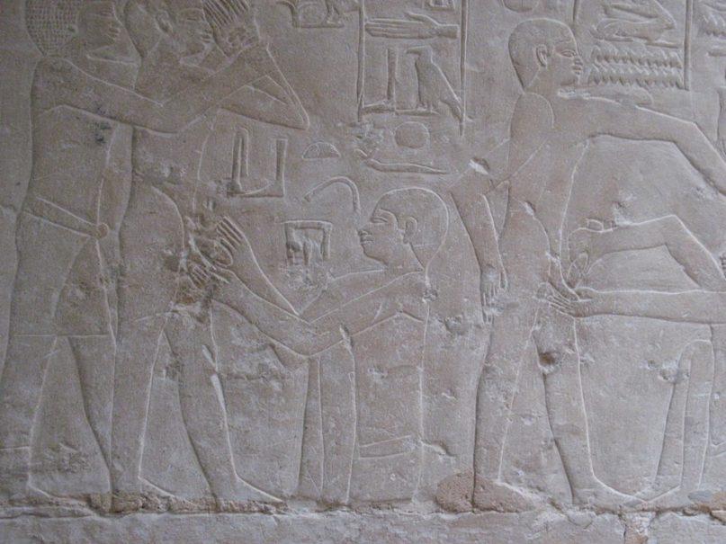 Beschneidungsszene im Grab des Ankhmathor in Sakkara. Foto: MSA