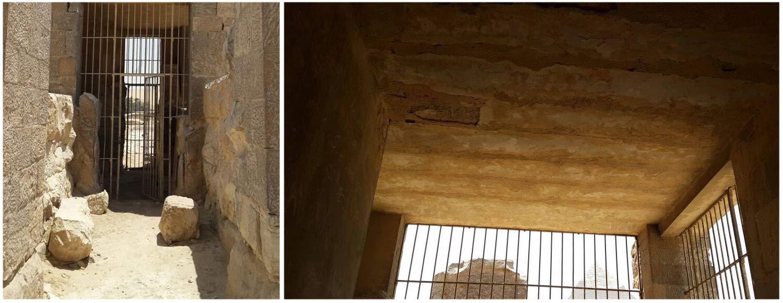 Laut dem Antikenministerium ist die Decke von Rawers Grab nicht eingestürzt, wie diese Bilder belegen sollen. Bild: MSA