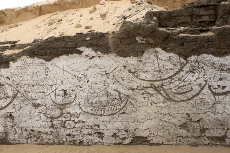 Eine Gruppe von Booten an einer Seitenwand. Bildnutzung m.frdl.Gen. des Museums der Universität von Pennsylvania