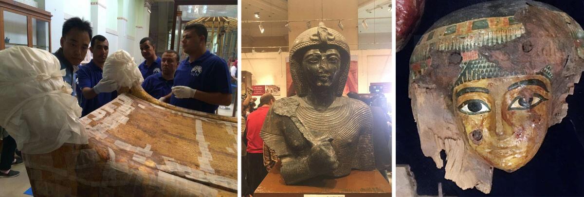 Aus Den Museen Tutanchamuns Bett Zieht Um Und Interessante