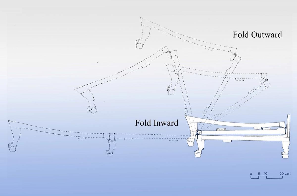 Tutanchamuns campingliege eine mischung aus edlem design for Bett zeichnung