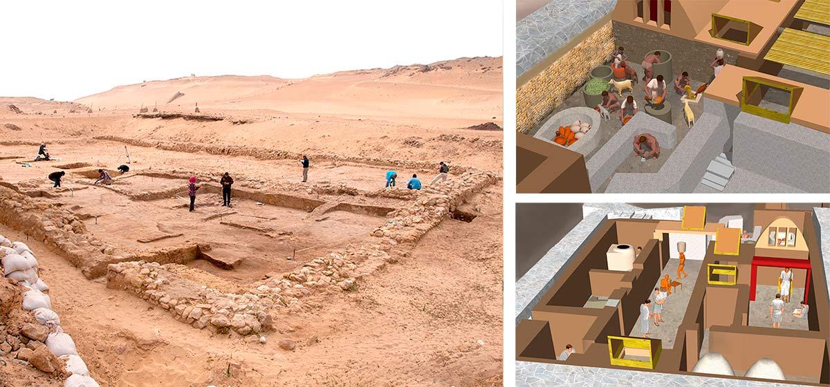 Zwei Antike Wohnstätten In Gizeh Gefunden