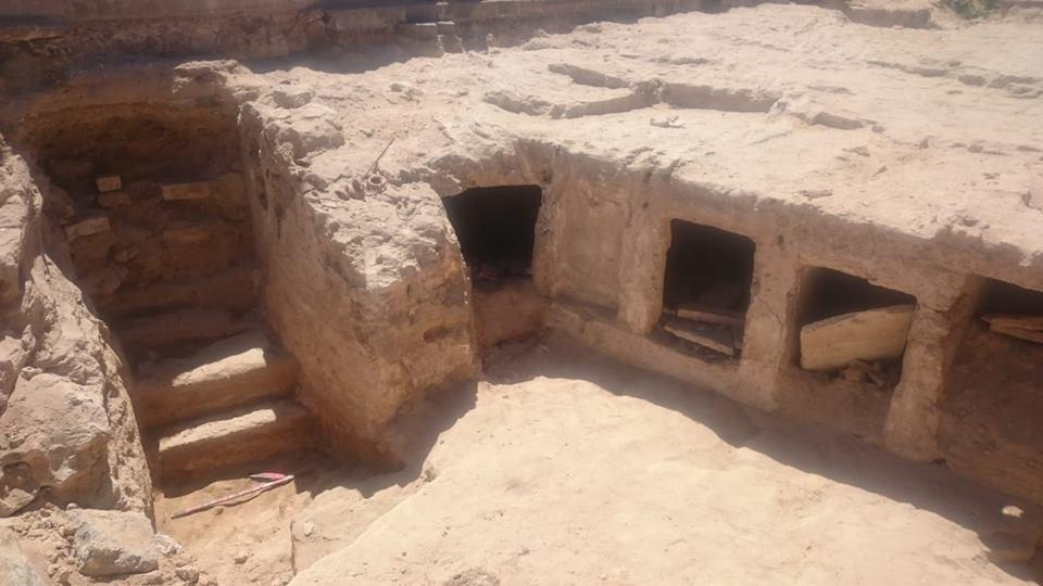 Felsengräber in Alexandria. Foto: Antikenministerium Ägypten