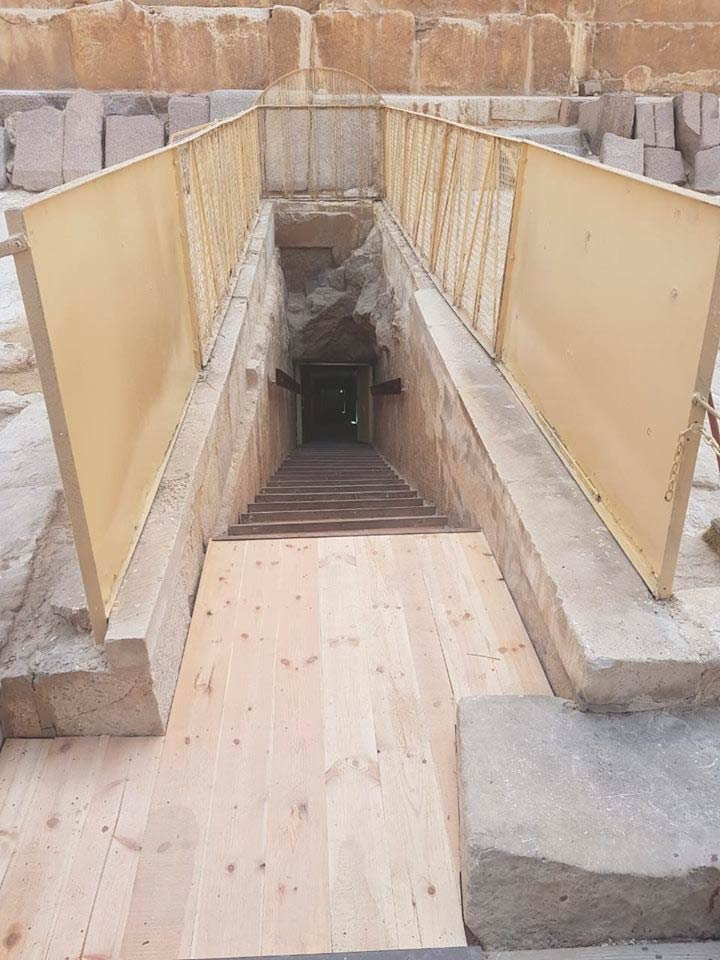 Treppe Chephren Pyramide Selket De